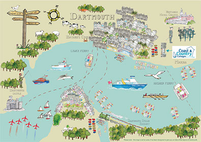dartmouth map kate west art